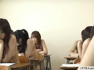 Warga jepun schoolgirls semua pergi telanjang dalam sekolah