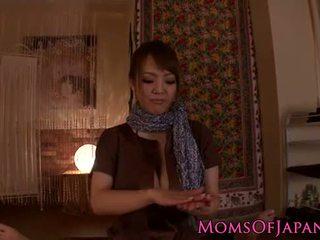 Hitomi Tanaka gives sensual pov massage