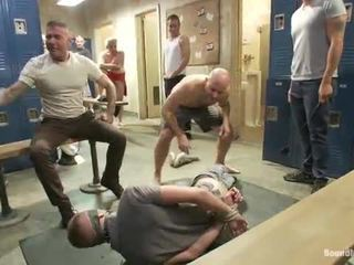 Fucked in the crowded locker room