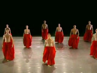 Nude dancing ballett group
