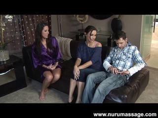 avsugning, stora tuttar, erotisk massage