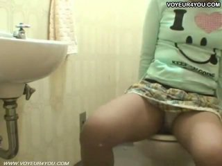 Toilet Room Masturbation Hot Asian Girl