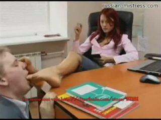 Russian-mistress voet slaaf