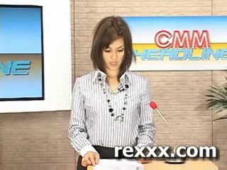 Jaunumi reporter gets bukakke laikā viņai darbs (maria ozawa bu
