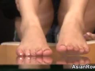 Asian Girl Teases Her Feet And Soles