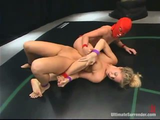 Without The Stitch Onto Honeys Crimson Ninja And Hollie Stevens Wrestle And Have Lesbie Funtime