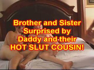 형제 과 sister 씨발 그들의 아기 사촌
