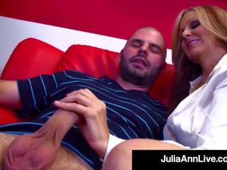 Hot Sex Hungry MILF Julia Ann Fucks Her Cum Spewing.