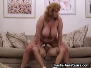 Busty Mindy Jo on threesome fucking