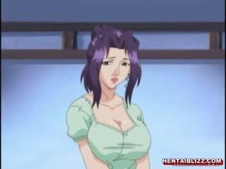 Japānieši hentai māte ar milzīgs jugs gets fucked līdz vecs vīrietis