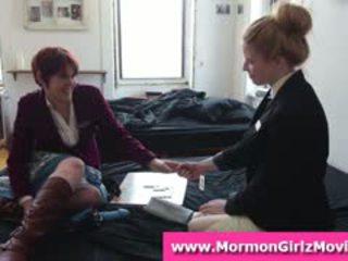 Teen Mormon Lesbians Lick Pussy In Underwear