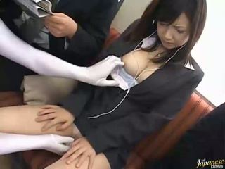 Asian lick and fuck a massive dick