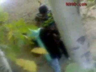 Arab iranian момиче прецака в на дупе в на woods