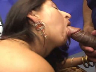 Young indian takes a big cock in her juicy pussy