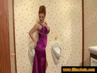 Redheads groot boezem krijgen covered in sperma