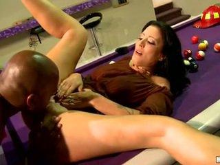 Zoe holloway झूठ पर billiard टेबल और licked कठिन