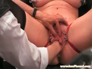 I Am Pierced Blonde Pussy Piercings Slave Candle Torture