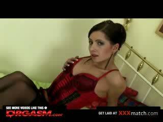 Middle-Eastern Girl Fucks Vibrator