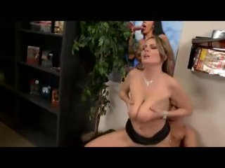 Alexis May rides a big hard cock and lets her huge jugs bounce
