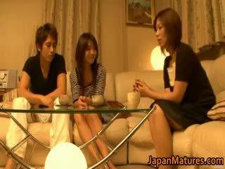 realidad, japonés, sexo en grupo
