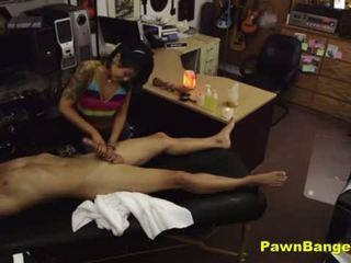 Heet sexy aziatisch fucks haar klant