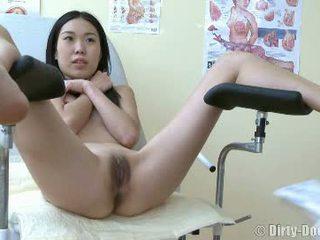 vagina, arzt, spiegel