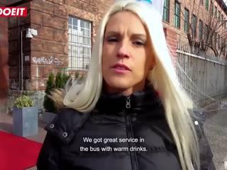 Letsdoeit - blondīne goddess gets intense orgasms uz a vācieši autobuss