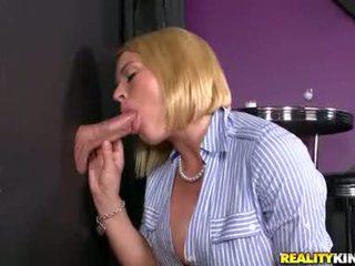 Ribald Hawt Slut Krissy Lynn Working Meaty Cock Through A Glory Hole