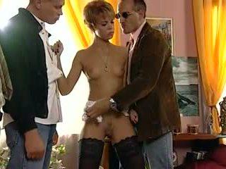 dupla penetração, francês, ruivão