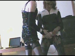 crossdresser, masturbation, amateur