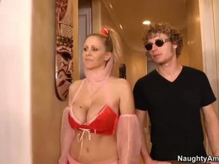Julia ann is a hot genie who can wish org .