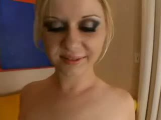 Aaralyn barra - blondynka jest practicing na the wytrysk olinpic