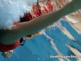 online watersport video-, meer lichaam film, mooi zwembad