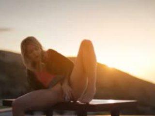Sunset In Malibu In Art Undressing Movie