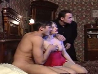 Italian Bitch Fucked By Two Guys