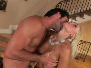 Blond Tramp Lichelle Marie Knows How To Drink Large Hard Cock