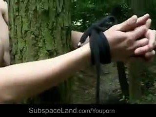 Claudie tied į viršų į the miškas ir pakliuvom