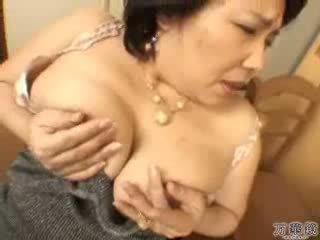 giapponese, masturbarsi, maturo, mamma