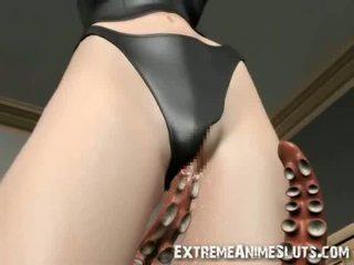 Tentacles bang एक ३डी गर्ल!