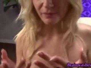 een pijpbeurt seks, pov, kwaliteit blond film