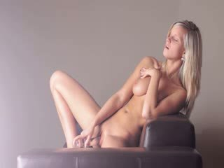 Huge glass toy in her blondes cunt