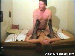 Stockinged Amateur Impaled And Creamed