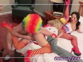 Very sexy clown girls