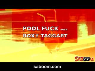 Roxy taggart gets fucked on the poolside at saboom