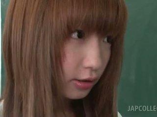 Cute Asian College Girl Giving Her Teacher Big Boner On