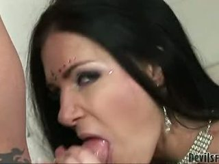 India Summers Taking Her Partner's Cock Into Mouth