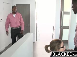 Blacked teen dreier mit two monster dicks