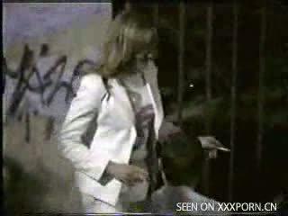 drunk girl temptation with her boyfriend on the street