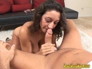 ideaal brunette, zien zuig-, blow job porno