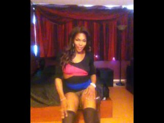 shemale video, solo clip, real strip video